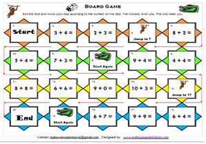math worksheet : mathematics math board gamesmath games for kids math board  : Interactive Math Games For Kindergarten Free