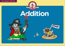 1st grade addition pirate waters online math  board game