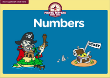 1st grade learning numbers  pirate waters online math  board game