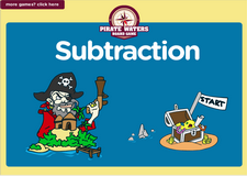 1st grade subtraction pirate waters online math  board game