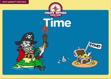 1st grade telling time on clocks pirate waters online math  board game