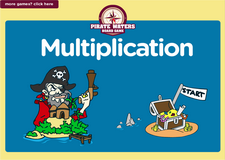 3rd grade multiplication pirate waters online math board game