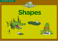 Shapes and geometry crocodile board game for preschoolers and kindergarten kids