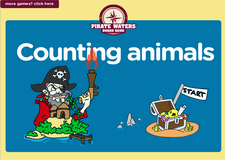 learn counting animals pirate waters math board game for kindergarten and preschool